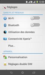 Sony Xpéria E1 Dual - Internet et connexion - Désactiver la connexion Internet - Étape 4