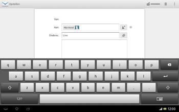 Sony SGP321 Xperia Tablet Z LTE - E-mail - hoe te versturen - Stap 9