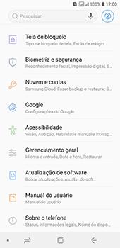 Samsung Galaxy J6 - Primeiros passos - Como encontrar o número de IMEI do seu aparelho - Etapa 4