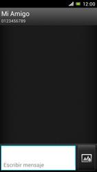 Sony Xperia J - Mensajería - Escribir y enviar un mensaje multimedia - Paso 9