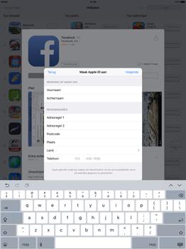 Apple iPad Pro 12.9 inch (Model A1671) - Applicaties - Account aanmaken - Stap 19