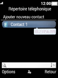 Crosscall Spider X5 - Contact, Appels, SMS/MMS - Ajouter un contact - Étape 7