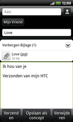 HTC A7272 Desire Z - E-mail - hoe te versturen - Stap 10