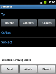 Samsung S5360 Galaxy Y - E-mail - Sending emails - Step 5