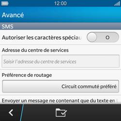 BlackBerry Q10 - SMS - configuration manuelle - Étape 7