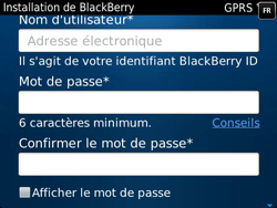 BlackBerry 9790 Bold - BlackBerry activation - BlackBerry ID activation - Étape 9