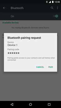 Motorola Nexus 6 - Bluetooth - Pair with another device - Step 7