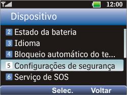 LG C365 - Segurança - Como ativar e desativar o código PIN do seu celular - Etapa 5