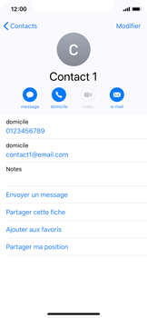 Apple iPhone XS - iOS 12 - Contact, Appels, SMS/MMS - Ajouter un contact - Étape 11