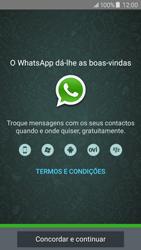 Samsung Galaxy J5 - Aplicações - Como configurar o WhatsApp -  5