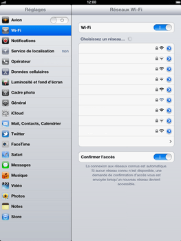 Apple iPad 4th generation - Wifi - configuration manuelle - Étape 6