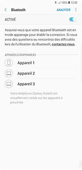 Samsung Galaxy Note9 - Bluetooth - connexion Bluetooth - Étape 10