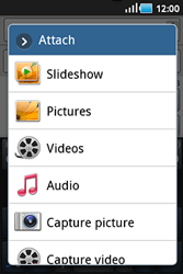 Samsung S5830 Galaxy Ace - Mms - Sending a picture message - Step 8