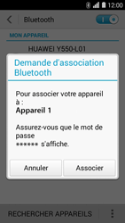 Huawei Ascend Y550 - Bluetooth - connexion Bluetooth - Étape 8