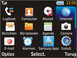 Samsung S3570 Chat 357 - Internet - Hoe te internetten - Stap 2