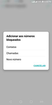 LG K12+ - Chamadas - Como bloquear chamadas de um número específico - Etapa 7