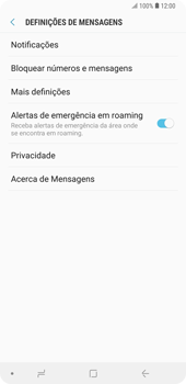 Samsung Galaxy Note9 - SMS - Como configurar o centro de mensagens -  6