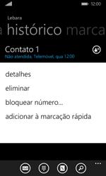 Microsoft Lumia 435 - Chamadas - Como bloquear chamadas de um número -  5