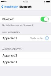 Apple iPhone 4s iOS 8 - WiFi en Bluetooth - Bluetooth koppelen - Stap 6