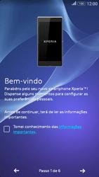 Sony Xperia E4 - Primeiros passos - Como ligar o telemóvel pela primeira vez -  5