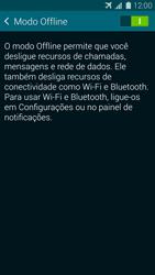 Samsung G900F Galaxy S5 - Rede móvel - Como ativar e desativar o modo avião no seu aparelho - Etapa 6