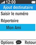Bouygues Telecom Bc 211 - Contact, Appels, SMS/MMS - Envoyer un SMS - Étape 11