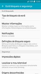 Samsung Galaxy A5 (2016) (A510F) - Segurança - Como ativar o código de bloqueio do ecrã -  12