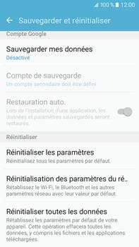 Samsung Galaxy J7 (2016) (J710) - Device maintenance - Retour aux réglages usine - Étape 6