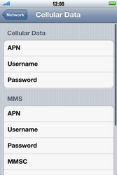 Apple iPhone 4 S - Internet - Manual configuration - Step 6