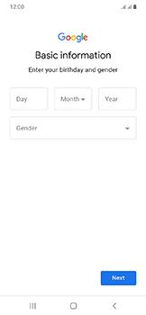 Samsung Galaxy A20e - Applications - Create an account - Step 8