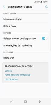 Samsung Galaxy S8 - Funções básicas - Como restaurar as configurações originais do seu aparelho - Etapa 5