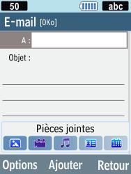 Samsung C3590 - E-mails - Envoyer un e-mail - Étape 5