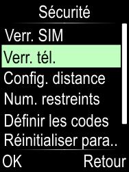 Doro Phone Easy 612 - Sécuriser votre mobile - Activer le code de verrouillage - Étape 5