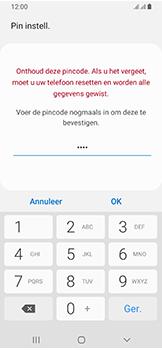 Samsung Galaxy A40 - Beveiliging - stel in of wijzig pincode voor je toestel - Stap 10