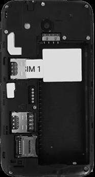 Alcatel U3 - Premiers pas - Insérer la carte SIM - Étape 4