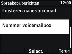 Nokia Asha 302 - Voicemail - Handmatig instellen - Stap 7