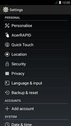 Acer Liquid Z410 - Device maintenance - How to do a factory reset - Step 5