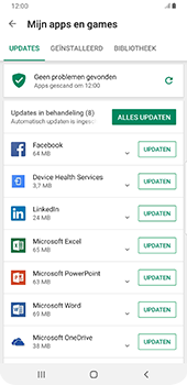Samsung Galaxy S9 Plus - Android Pie - Apps - apps updaten - Stap 7