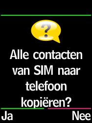 Emporia Select (V99-EF) - Contacten en data - Contacten kopiëren van SIM naar toestel - Stap 7