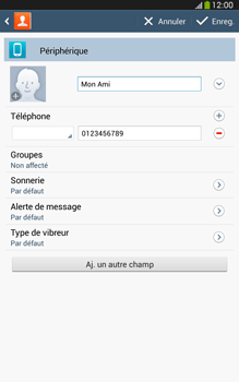 Samsung Galaxy Tab 3 8 4G - Contact, Appels, SMS/MMS - Ajouter un contact - Étape 9