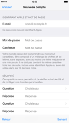 Apple iPhone 6 Plus - Applications - Créer un compte - Étape 13