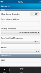 BlackBerry Z30 - SMS - Manual configuration - Step 7