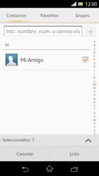 Sony Xperia L - Mensajería - Escribir y enviar un mensaje multimedia - Paso 8