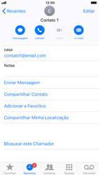Apple iPhone 8 - iOS 12 - Chamadas - Como bloquear chamadas de um número específico - Etapa 5