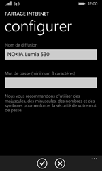 Nokia Lumia 530 - Internet et connexion - Partager votre connexion en Wi-Fi - Étape 8