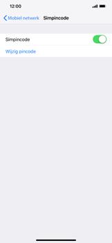 Apple iPhone XS Max - Beveiliging - pas de pincode voor je simkaart aan - Stap 5