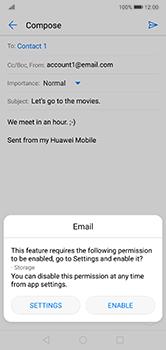 Huawei P20 Lite - E-mail - Sending emails - Step 11