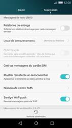 Huawei P8 Lite - SMS - Como configurar o centro de mensagens -  6