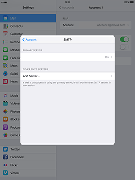 Apple iPad Air 2 iOS 10 - Email - Manual configuration - Step 21