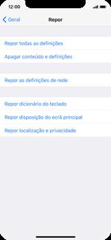 Apple iPhone X - Repor definições - Repor definições de fábrica do telemóvel -  6